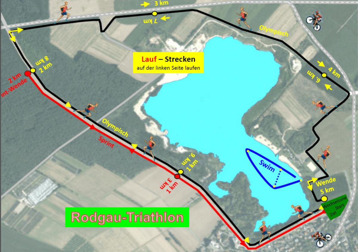 16. Rodgau TRIA 2017 - Laufstrecken