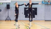 DM2019 Einrad-Freestyle - AK Paarkür U13 - Diana Fix & Lara Holm - Thema Bankräuber - 5. Platz