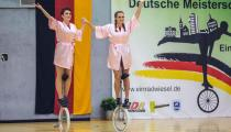 DM2019 Einrad-Freestyle - AK Paarkür 20+ - Tinja Klinkert & Nadine Wenga - Thema Dschungelcamp - 8. Platz
