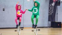 DM2019 Einrad-Freestyle - AK Paarkür U13 - Sarah Dartsch & Amelie Pilawa - Thema Glücksbärchis - 9. Platz