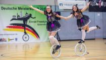 DM2019 Einrad-Freestyle - AK Paarkür U20 - Lisa Korom & Sarah Manus - Thema Puppen - 6. Platz