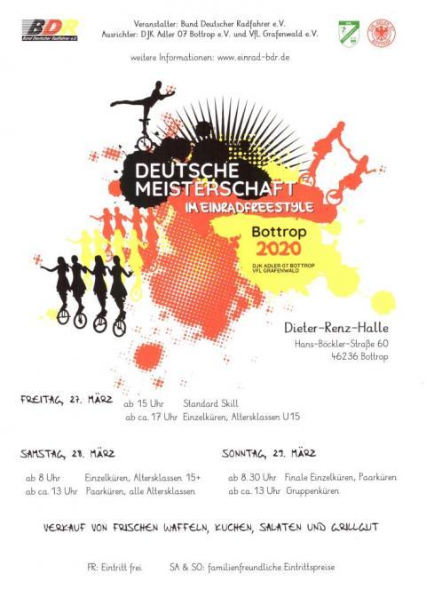Deutsche Meisterschaft Freestyle Einrad 2020