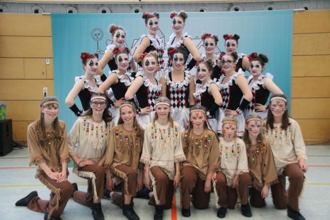"""TSV Einrad DM 2018 Gruppenküren """"Harlekin"""" und """"Indianer"""""""