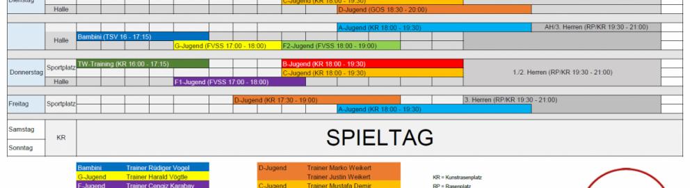 TSV-Fussballjugend Trainingsplan 2019-20